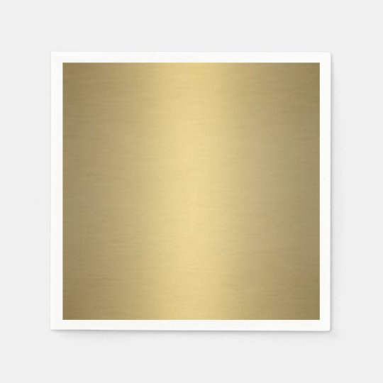 Brushed Gold Paper Napkin