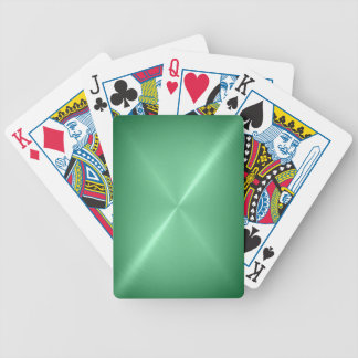 Brushed Green Metal Playing Cards