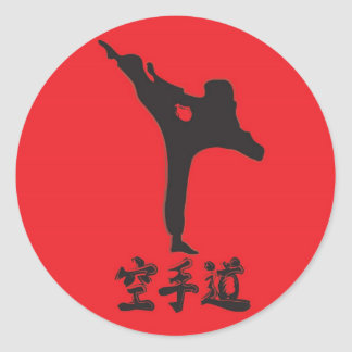 Brushed Karate Classic Round Sticker