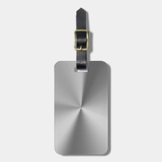 Brushed metal bag tag
