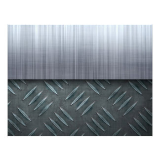 Brushed Metal Diamond Plate Template 21.5 Cm X 28 Cm Flyer