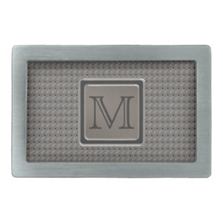 Brushed Metal Grille Look with Monogram Belt Buckles