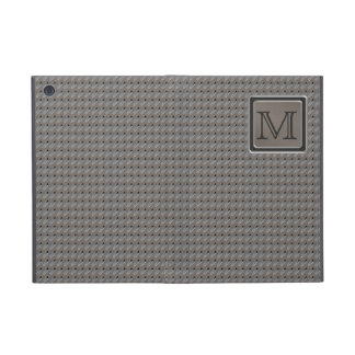 Brushed Metal Grille Look with Monogram Covers For iPad Mini