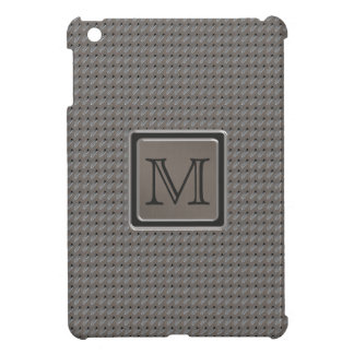 Brushed Metal Grille Look with Monogram iPad Mini Cover