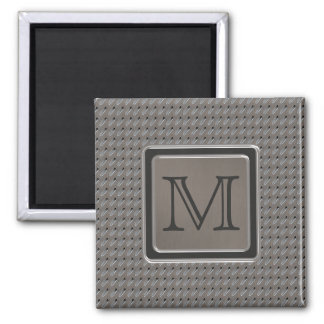 Brushed Metal Grille Look with Monogram Refrigerator Magnets
