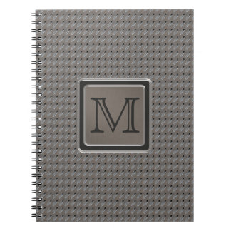 Brushed Metal Grille Look with Monogram Notebooks