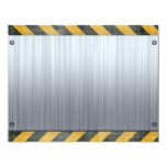 Brushed Metal Hazard Construction Layout 11 Cm X 14 Cm Invitation Card