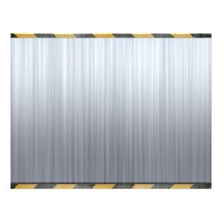 Brushed Metal Hazard Construction Layout 21.5 Cm X 28 Cm Flyer