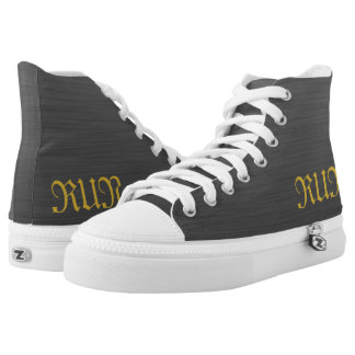 BRUSHED METAL HIGH TOPS