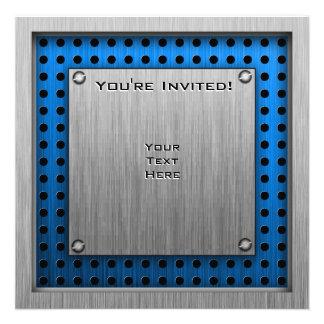 Brushed Metal-look Architect Custom Invitations