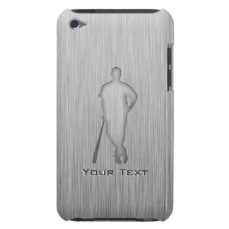 Brushed metal-look Baseball iPod Case-Mate Cases