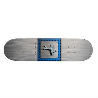 Brushed metal look Bodybuilder Skateboard Decks