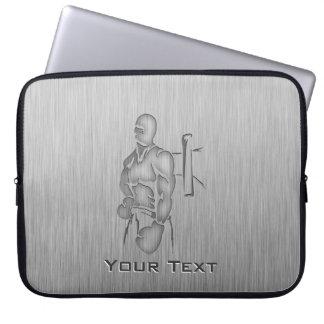 Brushed Metal-look Boxing Laptop Sleeve