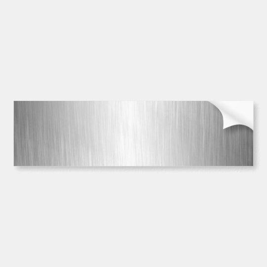 Brushed Metal Look Bumper Sticker