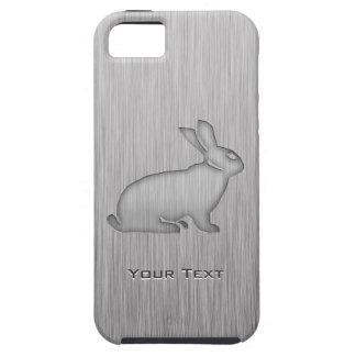 Brushed Metal look Bunny iPhone 5 Case