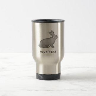 Brushed Metal look Bunny Travel Mug