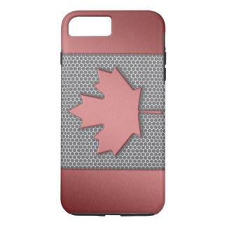 Brushed Metal Look Canadian Flag iPhone 7 Plus Case