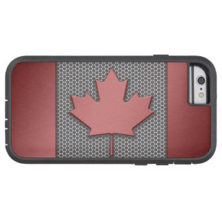 Brushed Metal Look Canadian Flag Tough Xtreme iPhone 6 Case