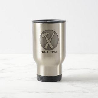 Brushed Metal-look Carpenter Tools Stainless Steel Travel Mug