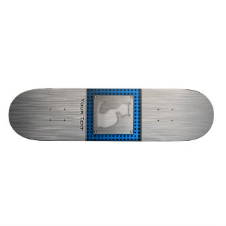 Brushed Metal look Cat Skateboard Decks