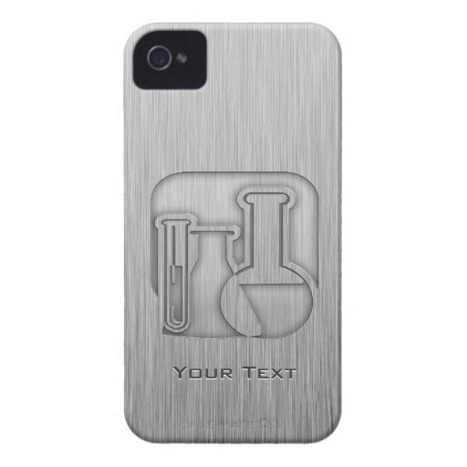 Brushed Metal-look Chemistry iPhone 4 Cases