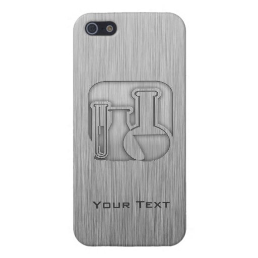 Brushed Metal-look Chemistry Case For iPhone 5