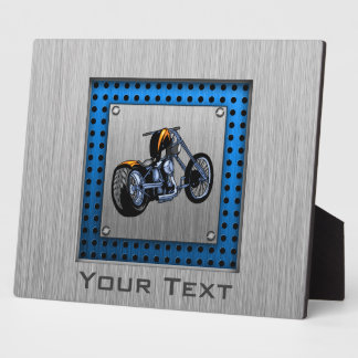 Brushed Metal-look Chopper Photo Plaque