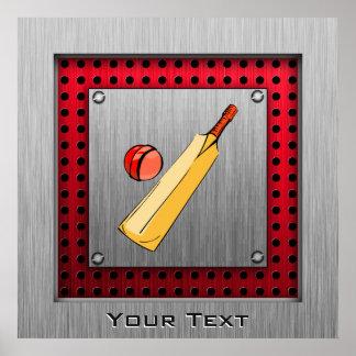 Brushed metal look Cricket Print