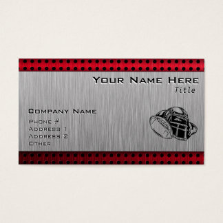 Brushed metal look Football Business Card