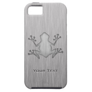 Brushed Metal look Frog iPhone 5 Case