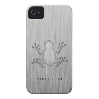 Brushed Metal look Frog iPhone 4 Covers
