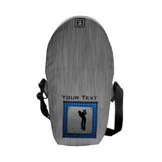 Brushed metal look Golf Courier Bags