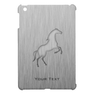 Brushed metal look Horse iPad Mini Cases