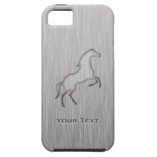 Brushed metal look Horse iPhone 5 Covers