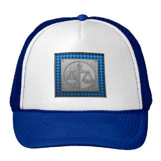 Brushed Metal-look Justice Scales Mesh Hat