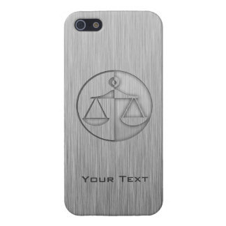 Brushed Metal-look Justice Scales Case For The iPhone 5