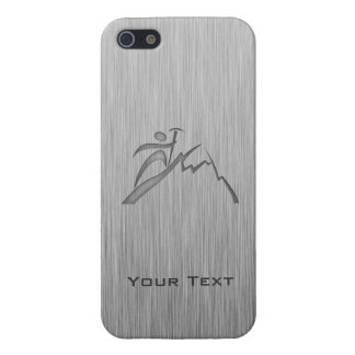 Brushed Metal-look Mountain Climbing iPhone 5/5S Cover