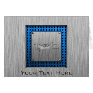 Brushed Metal-look Plane Card