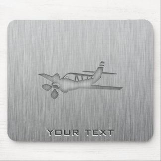 Brushed Metal-look Plane Mouse Pad