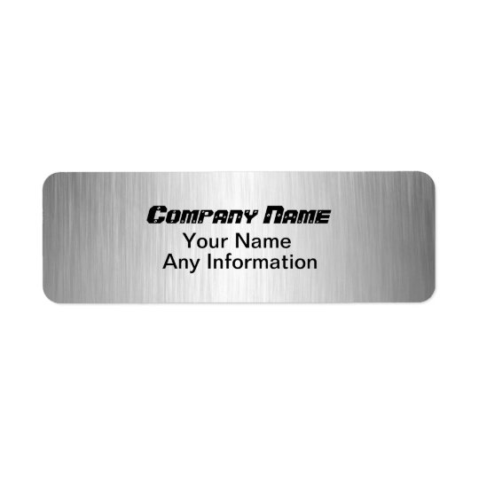 Brushed Metal Look Return Address Labels