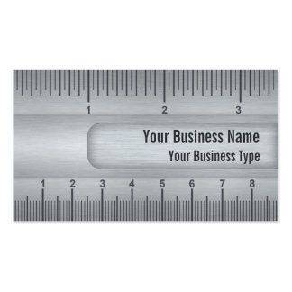 Brushed Metal Look Ruler or Rule Technical Pack Of Standard Business Cards