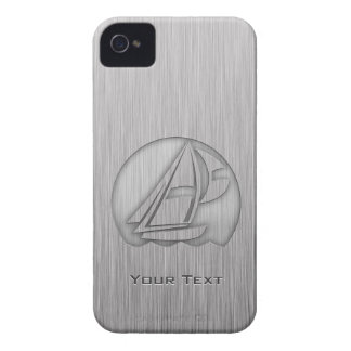 Brushed Metal-look Sailing iPhone 4 Covers