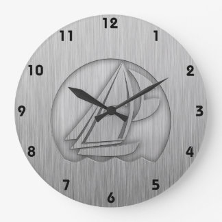 Brushed Metal-look Sailing Wallclocks