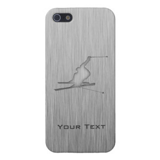 Brushed Metal-look Snow Skiing Case For iPhone 5/5S