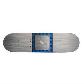 Brushed Metal-look Snow Skiing Skate Boards