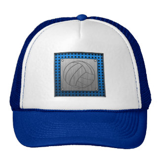 Brushed Metal-look Volleyball Hats