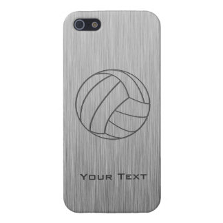 Brushed Metal-look Volleyball iPhone 5 Cases