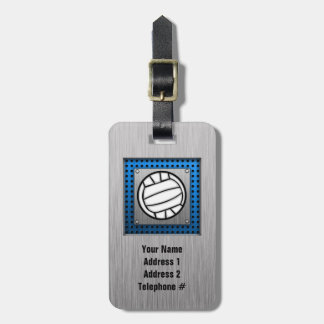 Brushed Metal look Volleyball Luggage Tag