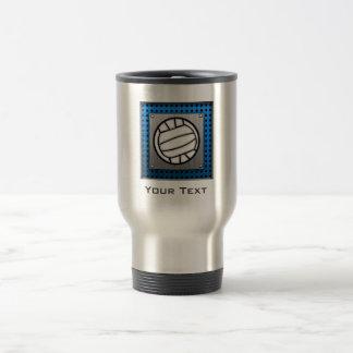 Brushed Metal look Volleyball Travel Mug