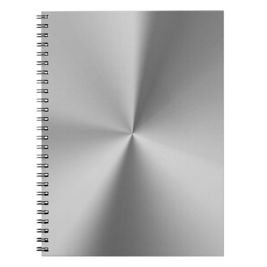 Brushed metal spiral notebook
